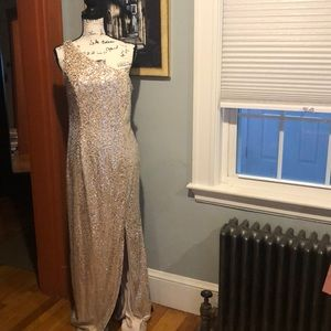 Adrianna Papell Floor-Length Sequin Gown (12)